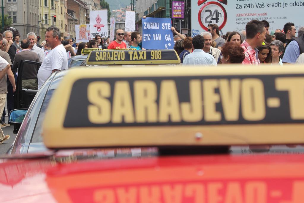 Taksi, protest