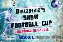 Ballantine's snow football cup