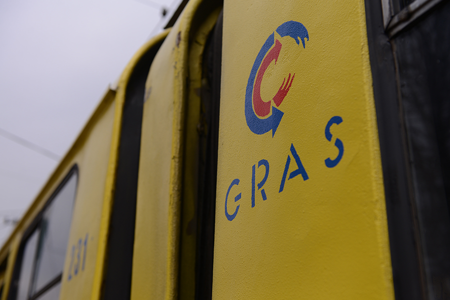 Gras ilustracija tramvaj