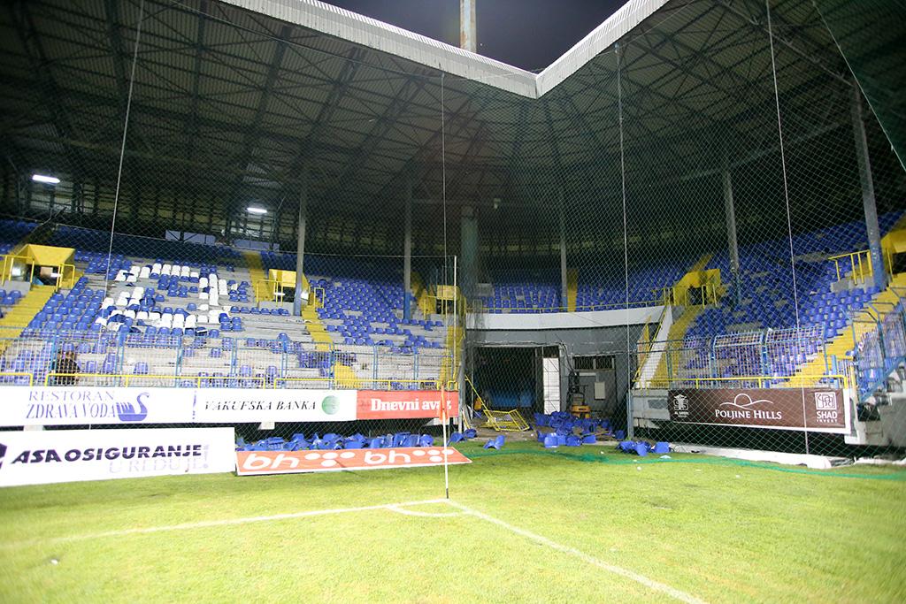 Stadion Grbavica, Derbi