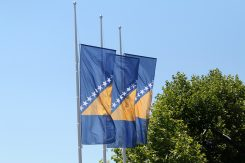 Zastava BiH na pola koplja